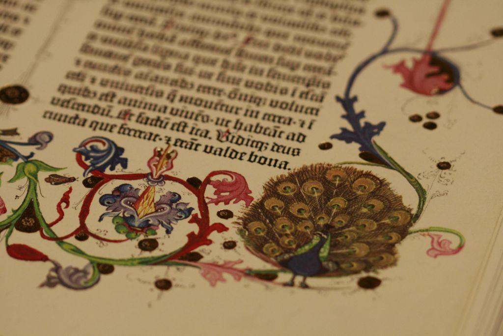 Kuvituskuva vanhasta latinankielisestä kirjasta